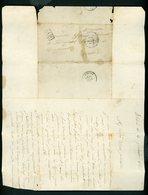 L.A.C. Timbre à Date De PARIS 3/2/1871 Avec Numéro De Section De Levée Logé Dans Un Angle (3) + PP Et CàD  D'arrivée De - 1849-1876: Klassik
