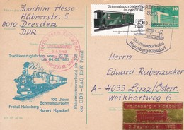 DDR 100 Jahre Schmalspurbahn Freital - Hainsberg - Kurort Kipsdorf 03-09-1983 Canc Sonderbahnpost - Trains