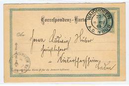 Briefkaart Met Postzegel  Verstuurd Van Waidhofen , A.D.  YBBS Naar Baden 1903 - Enteros Postales
