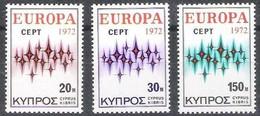 CEPT 1972 Chypre Cyprus Zypern Yvertn° 366-368 *** MNH Cote 7  Euro - Chypre (République)
