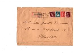 AFFRANCHISSEMENT COMPOSE SUR LETTRE RECOMMANDEE DE SALLANCHES HAUTE SAVOIE 1929 - Marcophilie (Lettres)