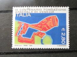 *ITALIA* USATI 2004 - 9° CENT FONDAZIONE ARSENALE VENEZIA - SASSONE 2787 - LUSSO/FIOR DI STAMPA - 6. 1946-.. Repubblica