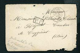 Timbre à Date De PARIS Du 22/9/1870 + PP Et CàD  D'arrivée De CEYZERIAT - 1849-1876: Klassik