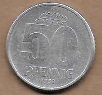 50 Pfennig Alu 1958 A - [ 6] 1949-1990 : GDR - German Dem. Rep.