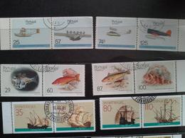 Lot Stamps Portugal Perfurado Vertical - Timbres