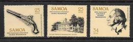 SAMOA 1982 G. Washington  YVERT N°506/08  NEUF MNH** - Samoa