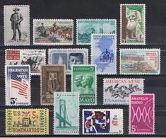 U.S.A.:  1964  COMMEMORATIVI  -  16  VAL. N. -  YV/TELL. 757//776 - Stati Uniti