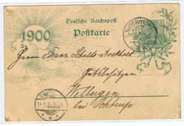Briefkaart Met Postzegel  Verstuurd Van Suderwich Naar Ochthrup 1900 - Baden