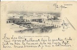 Prentbriefkaart (Djibouti) Met Nr. 52 Van 1.2.02  Van Obock Naar Brussel - Obock (1892-1899)