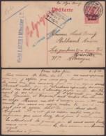 Belgique 1917 - EP Felenne Vers Allemagne + Censure Vers Un Camps + Retour (AIX2703) DC1671 - Occupation Allemande