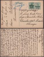 Belgique 1917 - EP Lessines Vers Allemagne + Censure Vers Un Camps (AIX2703) DC1672 - Stamped Stationery