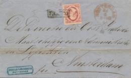 Nederland - 1861 - 10 Cent Willem III, 1e Emissie Op Complete Vouwbrief Van Rotterdam Naar Amsterdam - Periode 1852-1890 (Willem III)