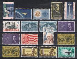 U.S.A.:  1962  COMMEMORATIVI  -  17  VAL. N. -  YV/TELL. 724//739 - Stati Uniti