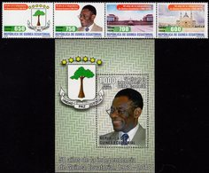 Equatorial Guinea - 2018 - 50th Anniversary Of Independence - Mint Stamp Set + Souvenir Sheet - Guinée Equatoriale
