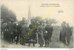 Le Canon Tirant Sur Les Aéroplanes . GRANDES MANOEUVRES . - Guerre 1914-18
