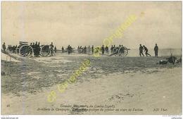 Artillerie De Campagne . Batterie En Position De Combat . GRANDES MANOEUVRES Du CENTRE . - Guerre 1914-18