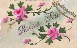 Old Postcard, Bonne Fête, Flowers, Fleurs, Roses (pk54272) - Holidays & Celebrations