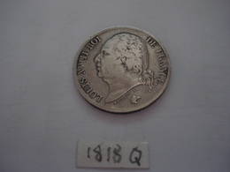 2 FRANCS LOUIS XVIII   1818 Q PERPIGNAN TTB ARGENT - I. 2 Francs