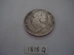 2 FRANCS LOUIS XVIII   1818 Q PERPIGNAN TTB ARGENT - Frankreich