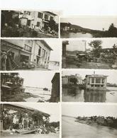 Photographies Var 83 Sainte Maxime 1932 Innondation Diverses Vues Lot De 8 Photos , Photo 7x11 Cm Env - Lieux