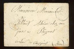 """Timbre à Date De PARIS De 1869 + Taxe Tampon """"30"""" Et CàD  D'arrivée De CEYZERIAT Du 3/8/1869 - 1849-1876: Klassik"""