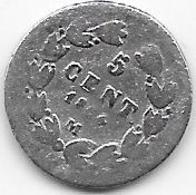 Mexique - 5 Centavos 1864 - Argent - Mexique