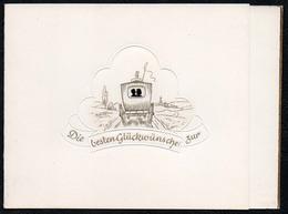C2064 - TOP Präge Glückwunschkarte - Hochzeit Pferdekutsche- Klappkarte - Holidays & Celebrations