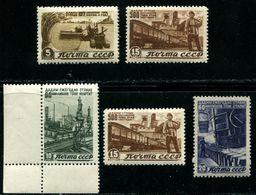 Russia  1946 Mi 1066-1070 MNH OG - 1923-1991 USSR