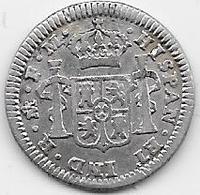 Mexique - 1/2 Real 1797 - Carlos IV - Argent - Mexico