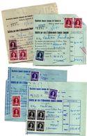 BOLLETTA PER RATA IMPOSTA CONSUMO 1959 1960 1961 1962 Fossano MARCHE VARIE - Biglietti Di Trasporto