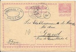 Briefkaart Van 9.4.13 Van Aleppo Naar Gent - Lettres & Documents