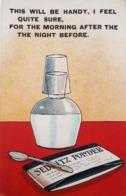 Very Rare Vinatge 'Sedlitz' Powder Advertising Postcard Circa 1940s Ephemera Chemist, Medicine - Pubblicitari