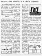 """BALANCE TYPE """" ROBERVAL """"  à  PLATEAUX EXCENTRES  1939 - Autres"""