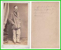 Photografie: Kuhn, Würzburg - Portrait, Feiner Herr Mann Homme Man Gentleman  #0253 CDV / Kab - Photos