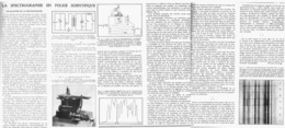 LA SPECTROGRAPHIE En POLICE SCIENTIFIQUE  1939 - Autres