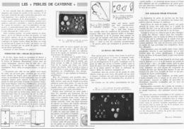 LES PERLES De CAVERNE  1939 - Minéraux & Fossiles