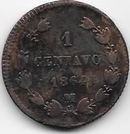 Mexique - 1 Centavo 1864 - Cuivre - TTB - Mexique
