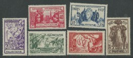 Mauritanie N° 66 / 71 X Exposition Internationale De Paris, La Série Des 6 Valeurs  Trace De  Charnière Sinon TB - Mauritanie (1906-1944)