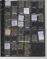 Collection De 135 Pièces Françaises + 23 Allemandes Dans Classeur Avec Boitier Coins - Collections