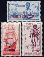 Wallis Et Futuna N° 87 / 89 X Défense De L'Empire Les 3 Valeurs Avec Trace De Charnière Sinon TB - Wallis And Futuna