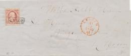 Nederland - 1861 - 10 Cent Willem III, 1e Emissie Op Omslag Van Leiden Naar Hoorn - Periode 1852-1890 (Willem III)