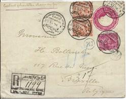 R-envelop Van 23.1.04 Van Grand Hotel Continental Caïro Naar Brussel - Égypte