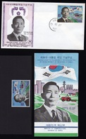 South Korea 1972  Michel  859 President Park Value  Mnh And Fdc And Folder. - Corea Del Sur