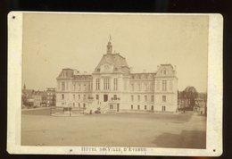 PHOTO ORIGINALE (PAPIER ALBUMINÉ) (10X16) SUR CARTON - HOTEL DE VILLE D'EVREUX, PHOTO DE BERTHAUD À EVREUX - Photos