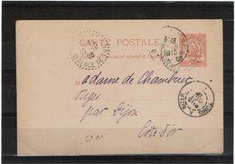 COMP2 - TUNISIE EP CP ACEP N° 11a CIRCULEE - Tunisie (1888-1955)