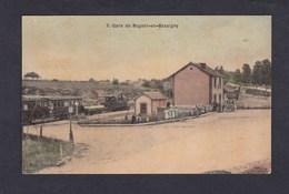 Nogent En Bassigny (52) La Gare ( Chemin De Fer Train Toilée Ed. Vve Simon) - Nogent-en-Bassigny