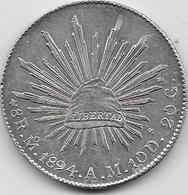 Mexique - 8 Real 1894 - Argent - Mexique