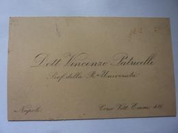 """Cartoncino """"Dott. VINCENZO PATRUCELLI Prof. Della Regia Università Napoli"""" - Cartoncini Da Visita"""
