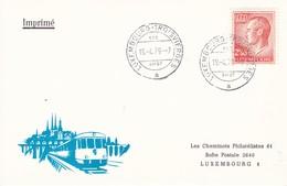 Luxembourg Luxemburg Card Les Cheminots Philatélistes 1979 - Trains