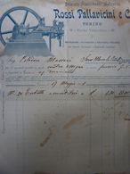 """Fattura """"Premiato Stabilimento Meccanico ROSSI PALLAVICINI & C. TORINO"""" 17 Maggio 1901 - Italia"""